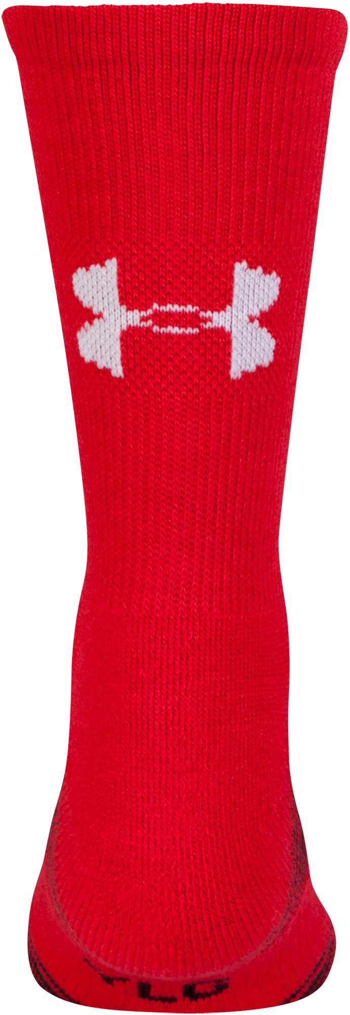 Kids' UA Team Crew Socks, Red, undefined