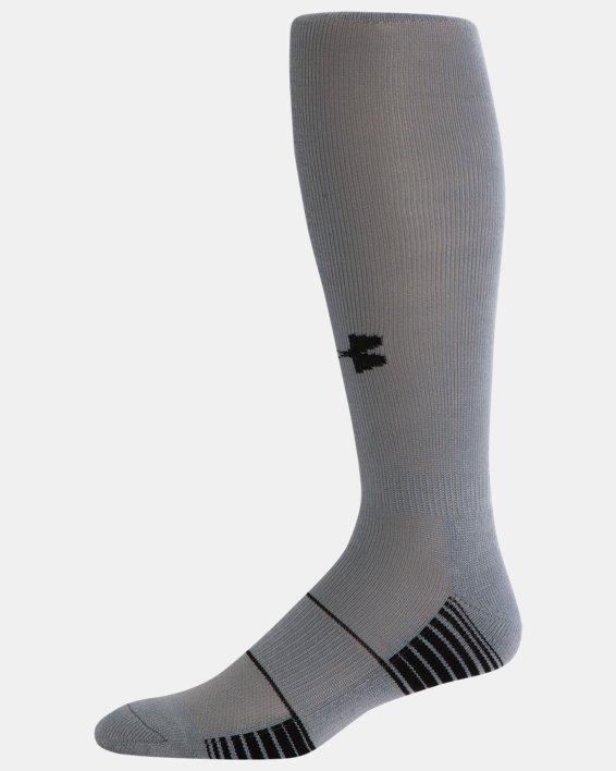 UA Over-The-Calf Team Socks, Gray, pdpMainDesktop image number 3