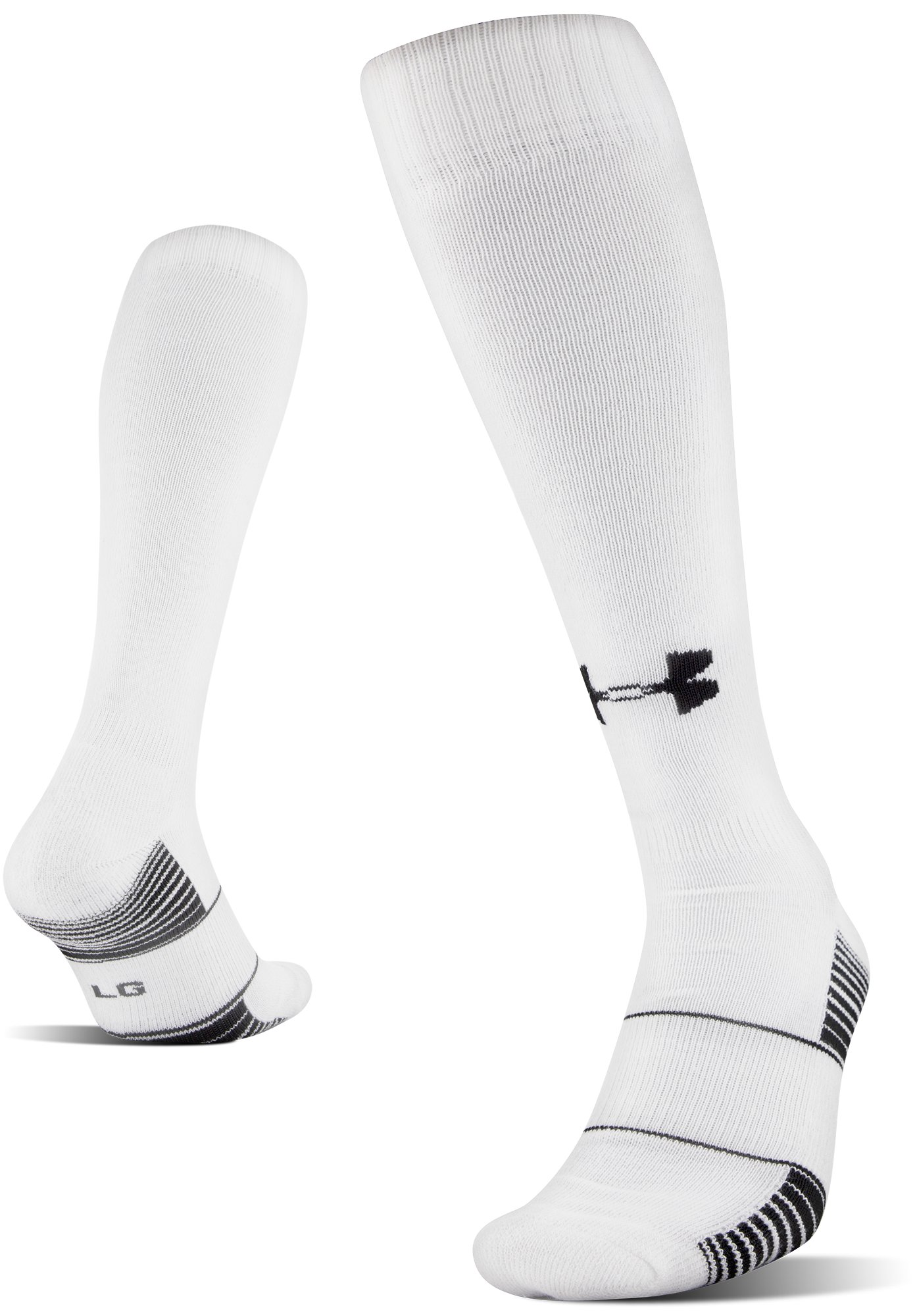 UA Over-The-Calf Team Socks, White, undefined