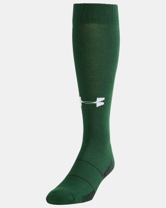 UA Over-The-Calf Team Socks, Green, pdpMainDesktop image number 0