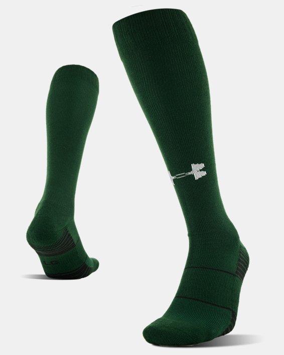 UA Over-The-Calf Team Socks, Green, pdpMainDesktop image number 4