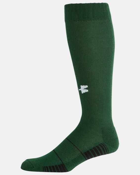 UA Over-The-Calf Team Socks, Green, pdpMainDesktop image number 3