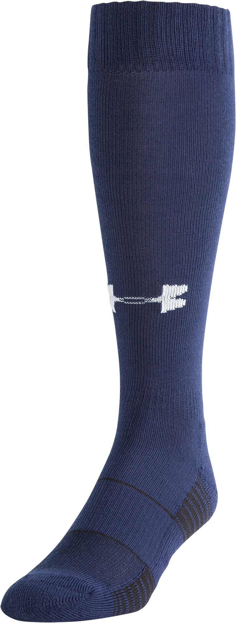UA Over-The-Calf Team Socks, Midnight Navy
