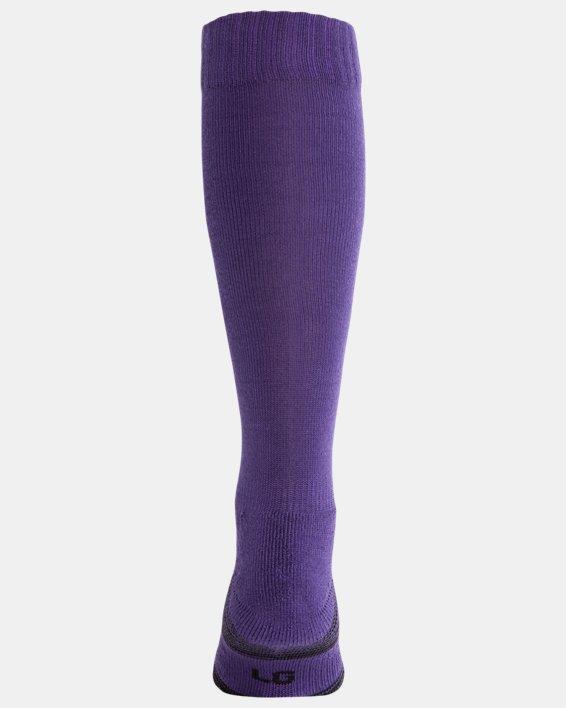 UA Over-The-Calf Team Socks, Purple, pdpMainDesktop image number 1