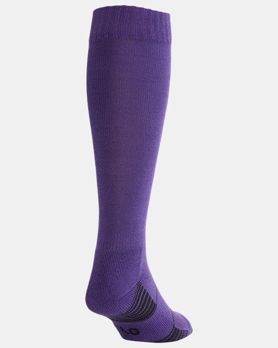 UA Over-The-Calf Team Socks, Purple, pdpMainDesktop image number 2