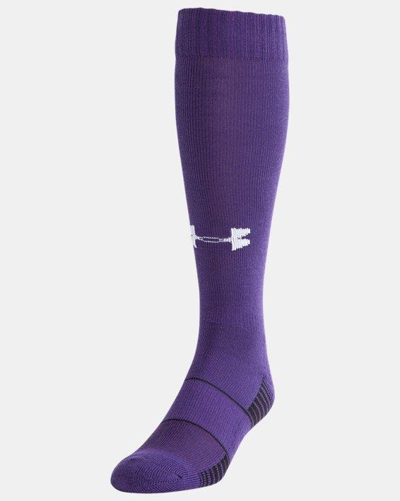 UA Over-The-Calf Team Socks, Purple, pdpMainDesktop image number 0