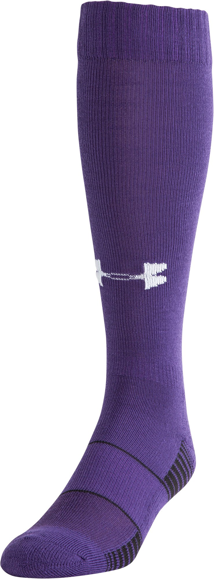 UA Over-The-Calf Team Socks, Purple, zoomed image