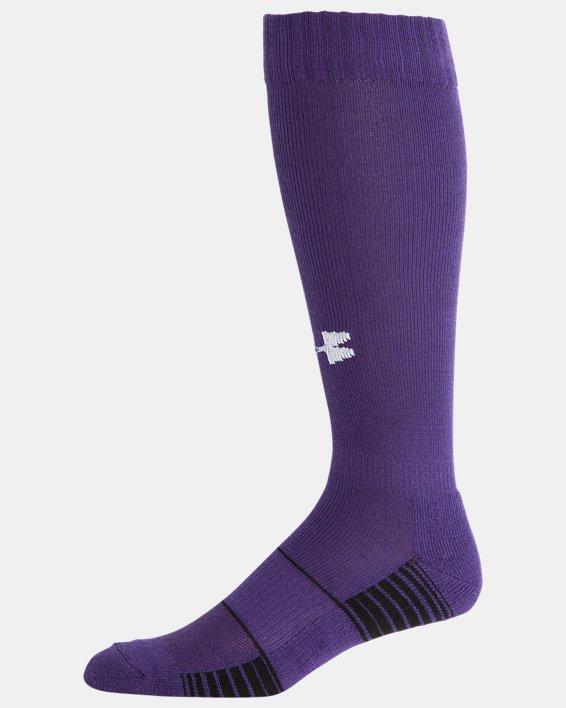 UA Over-The-Calf Team Socks, Purple, pdpMainDesktop image number 3