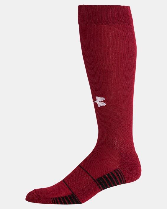 UA Over-The-Calf Team Socks, Red, pdpMainDesktop image number 3