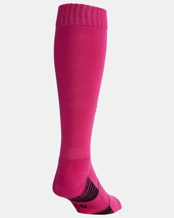 UA Over-The-Calf Team Socks, Pink, pdpMainDesktop image number 2