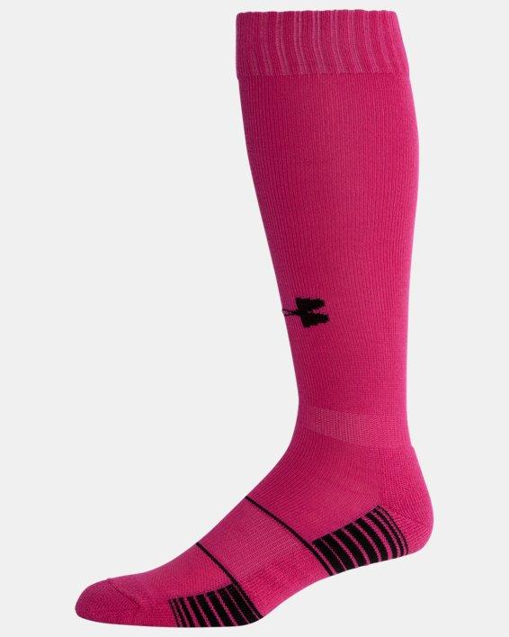 UA Over-The-Calf Team Socks, Pink, pdpMainDesktop image number 3