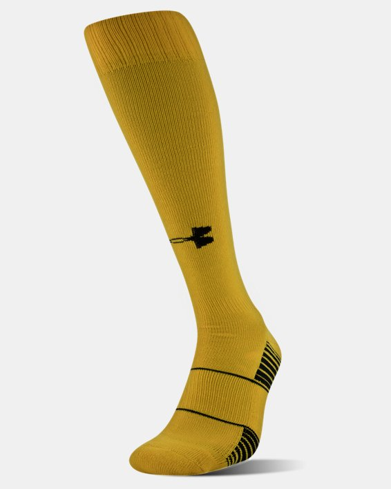 UA Over-The-Calf Team Socks, Yellow, pdpMainDesktop image number 0