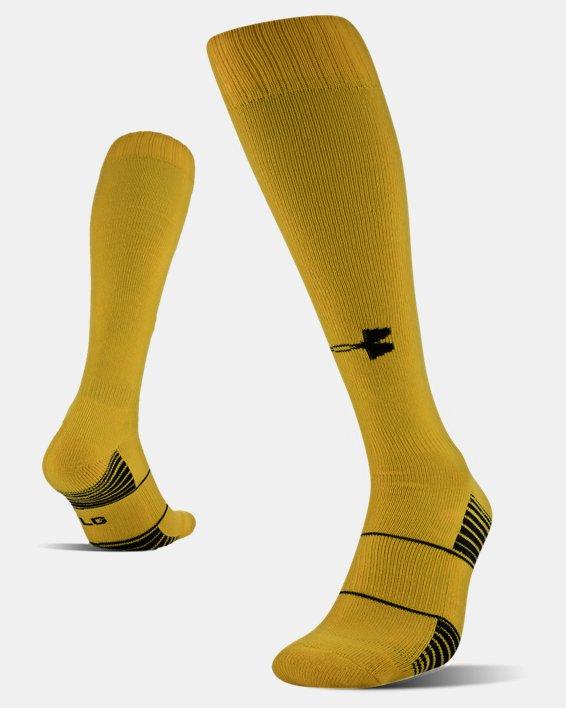 UA Over-The-Calf Team Socks, Yellow, pdpMainDesktop image number 4
