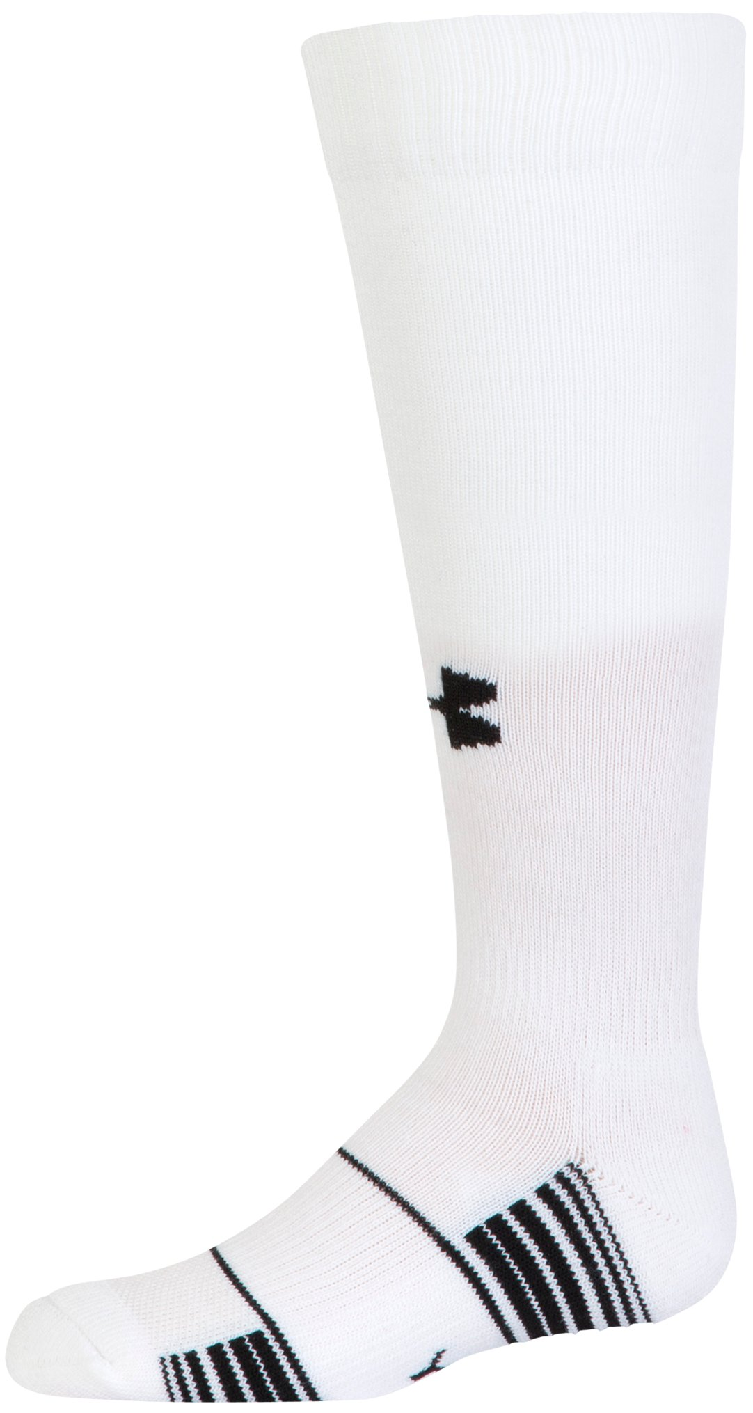 Kids' UA Over-The-Calf Team Socks, White,
