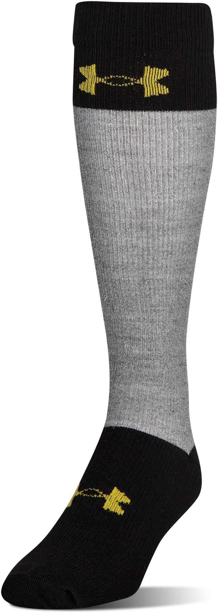 Men's UA Hockey Armour® Over-The Calf Socks, Steel, zoomed image
