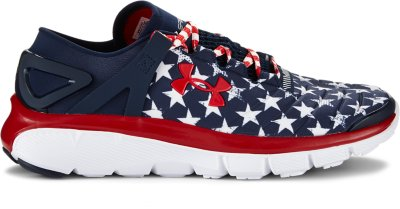 under armour american flag. american flag with running shoes as stripes under armour