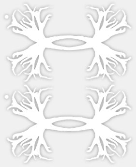 UA Antler Logo Decals - 2 pack