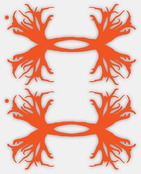 UA Antler Logo Decals - 2 pack LIMITED TIME: FREE U.S. SHIPPING 1 Color $11.99