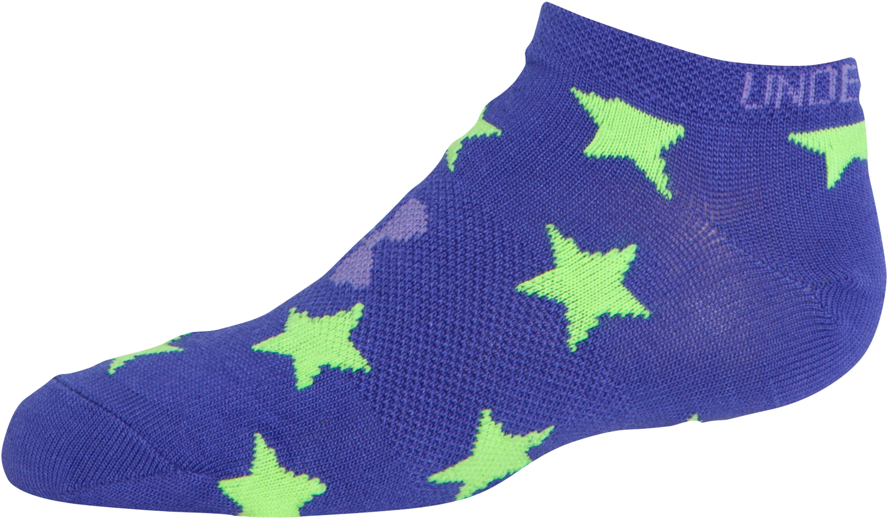 Girls' UA Liner No Show Stars Socks, Assorted,