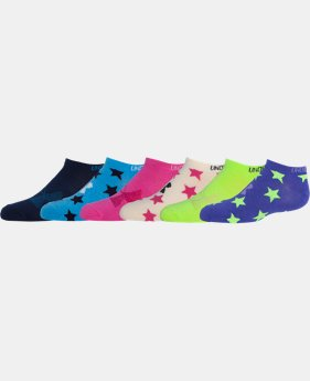 Girls' UA Liner No Show Stars Socks