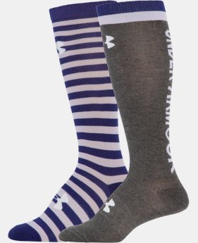 Women's UA Wordmark II Over-The-Calf Socks 2-Pack