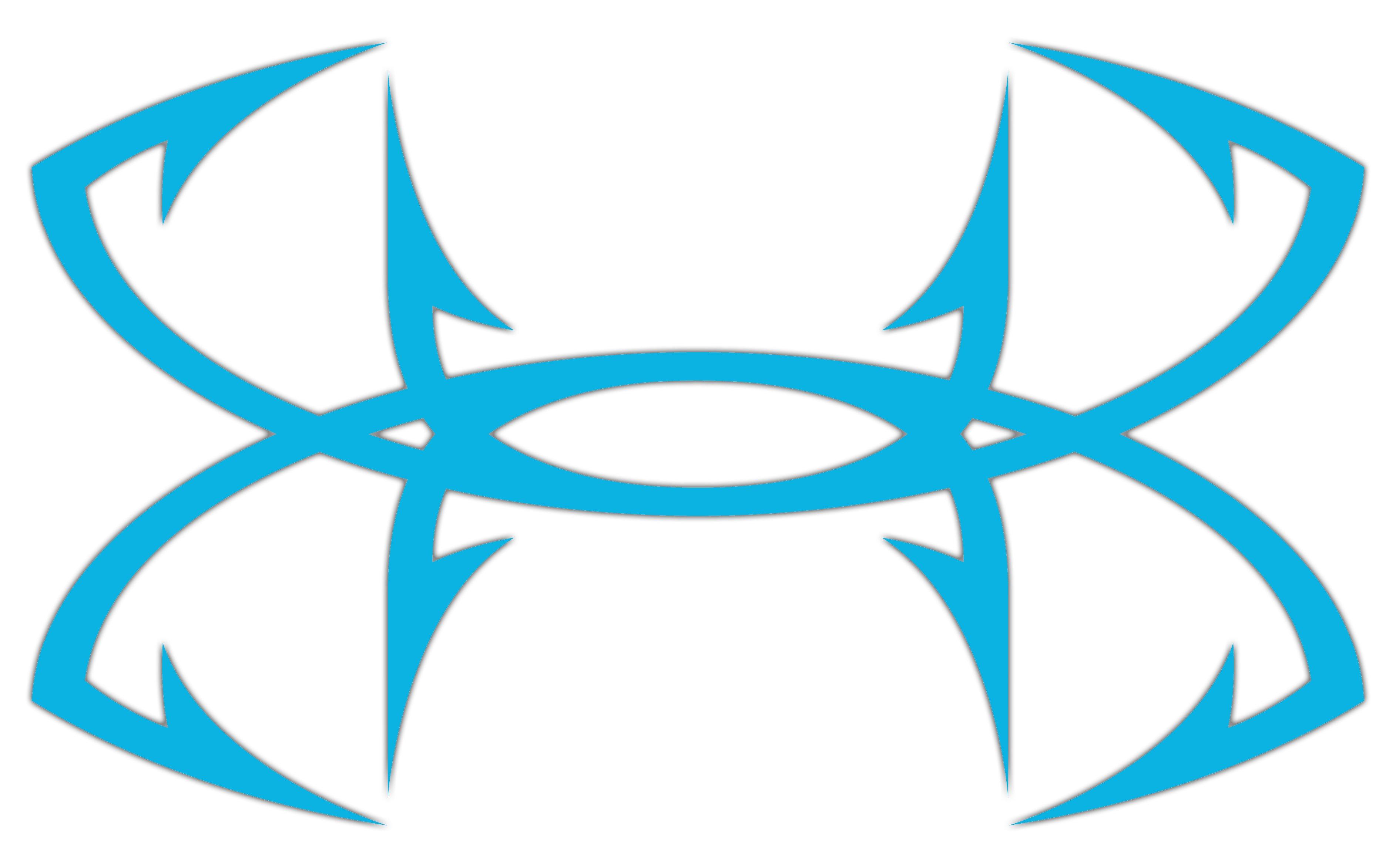 Ua Big Fish Hook Logo Decal 12 Inch Under Armour Us