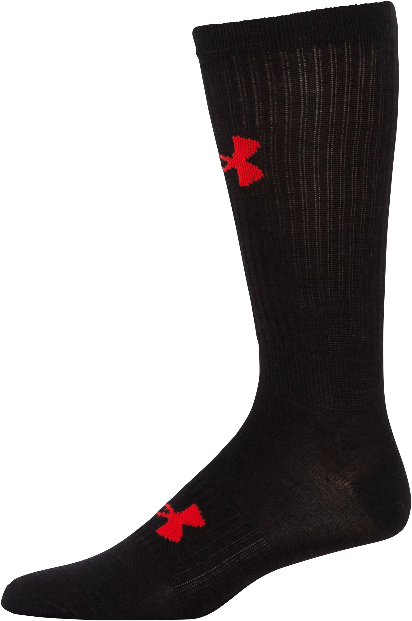 Men's UA Hike Lite Boot Socks, Black , undefined