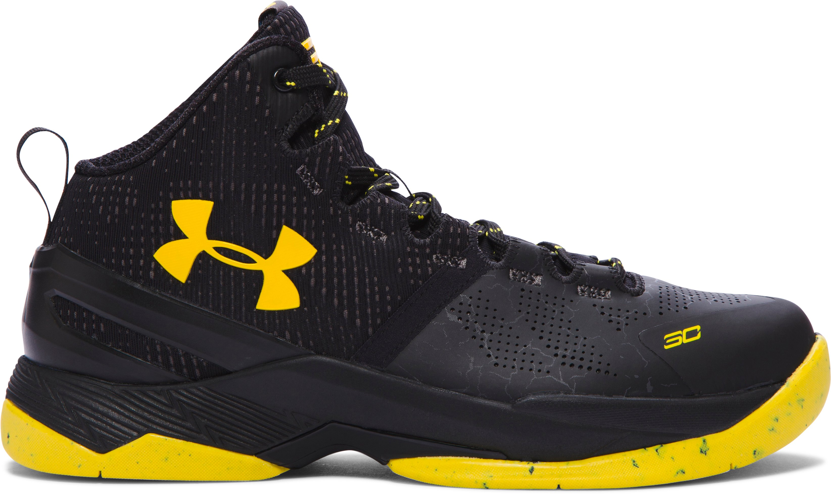 Boys' Grade School UA Curry Two Basketball Shoes, Black ,