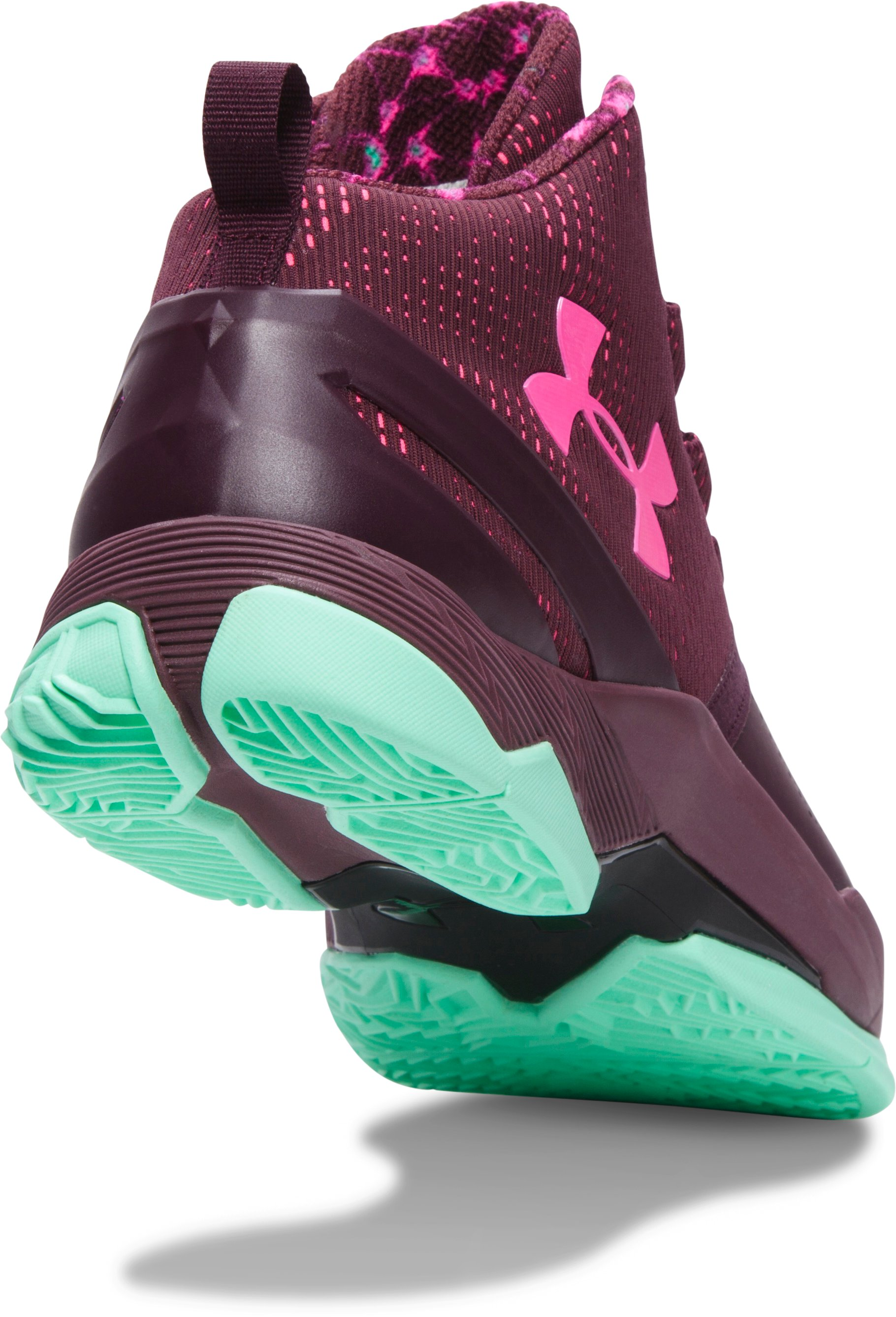 Boys' Grade School UA Curry Two Basketball Shoes, DARK MAROON, undefined