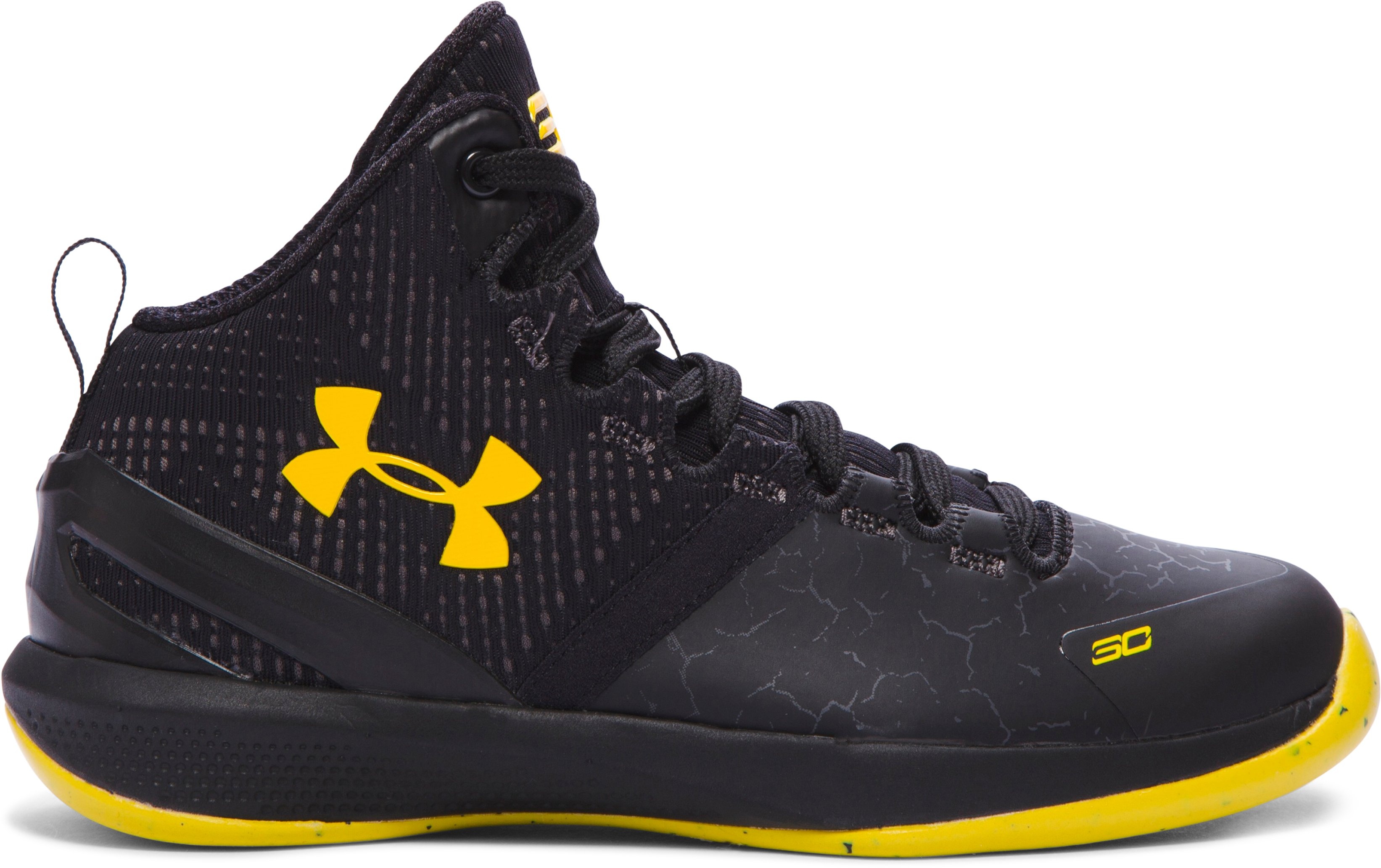 Boys' Pre-School UA Curry Two Basketball Shoes, Black , zoomed image