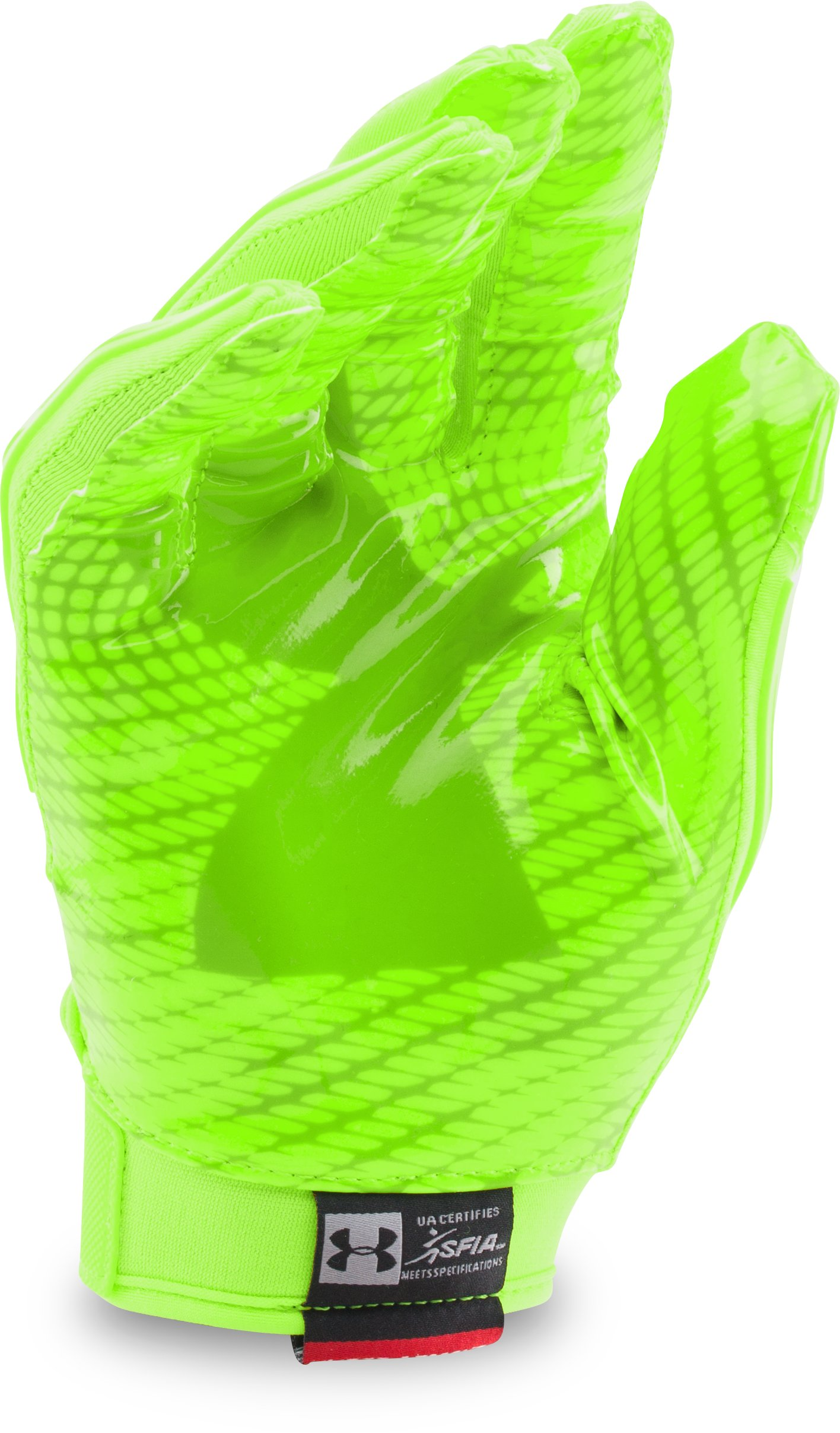 Men's UA Swarm II Football Gloves, HYPER GREEN,