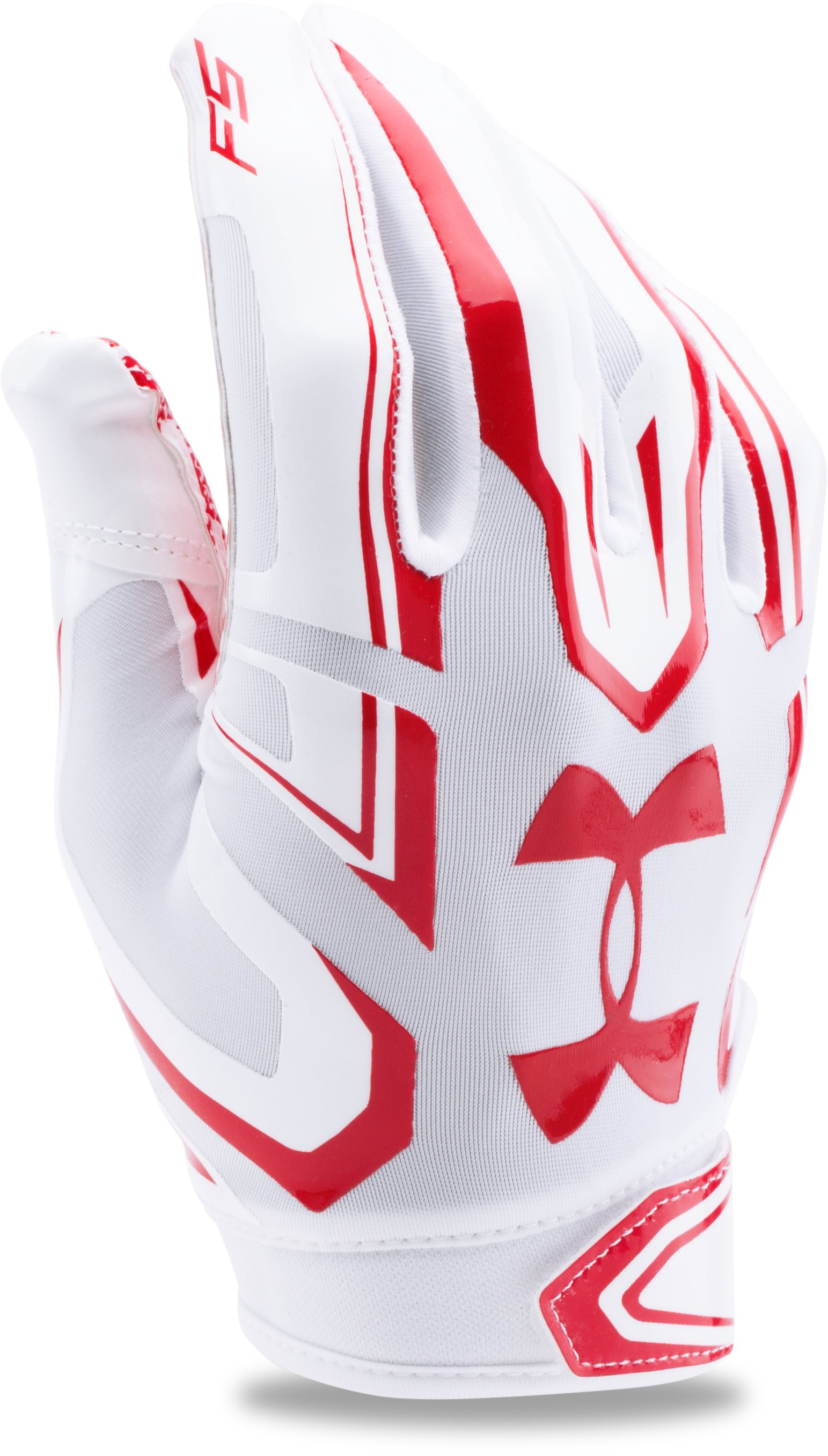 Men's UA F5 Football Gloves, White,