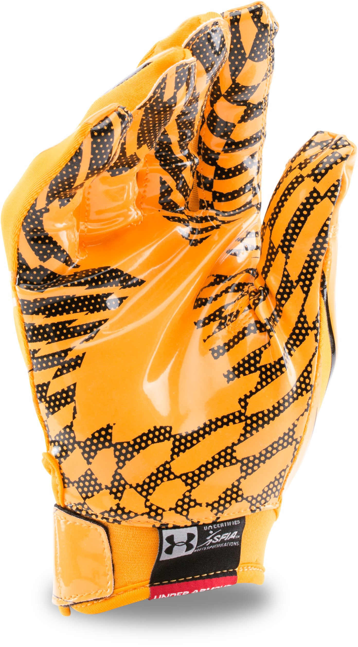 Men's UA F5 Football Gloves, Steeltown Gold, undefined