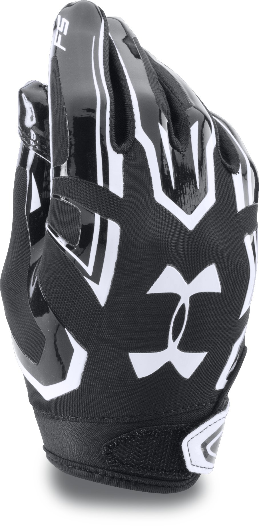 Boys' Pee Wee UA F5 Football Gloves, Black , zoomed image
