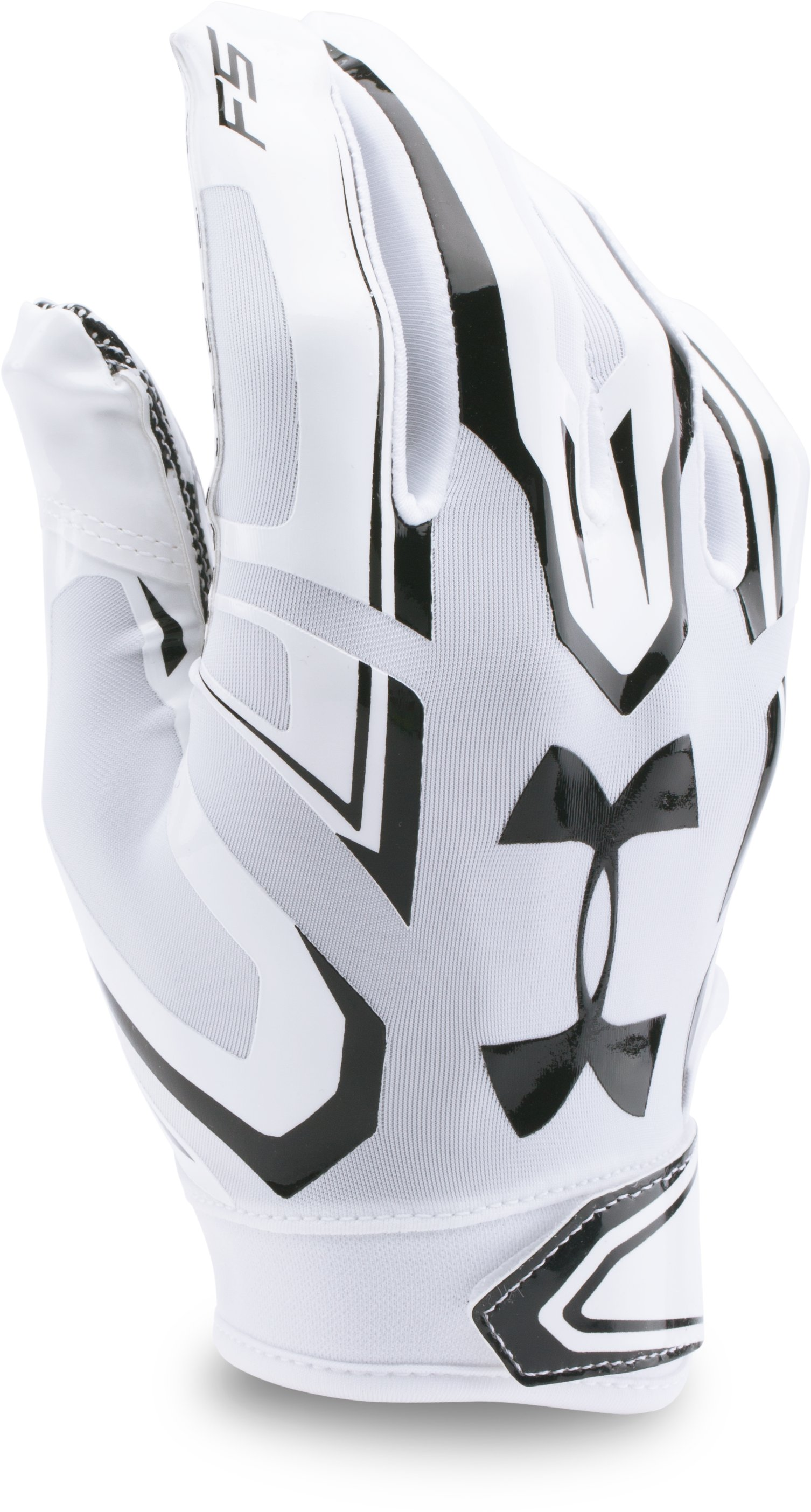 Boys' Pee Wee UA F5 Football Gloves, White, zoomed image