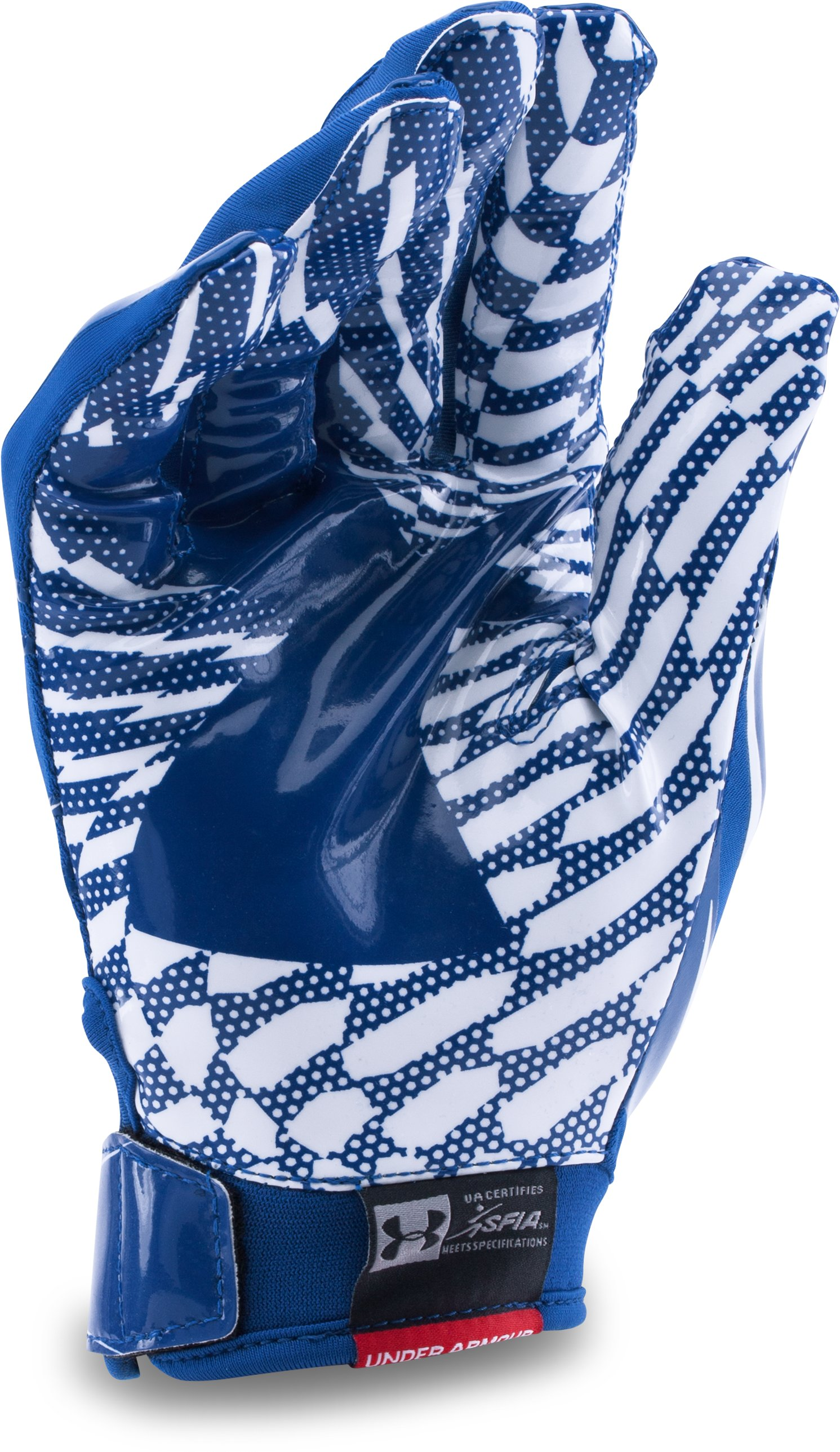 Boys' Pee Wee UA F5 Football Gloves, Royal