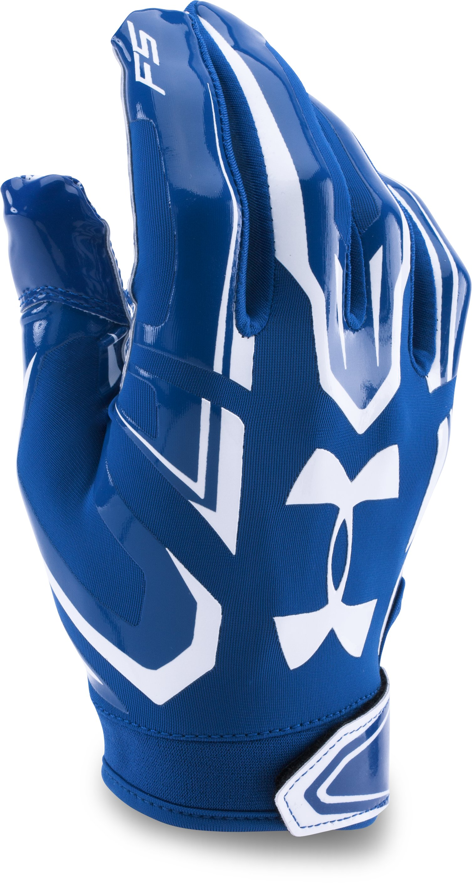 royal gloves Boys' UA F5 Football Gloves Great catch...They work great....Excellent grip.