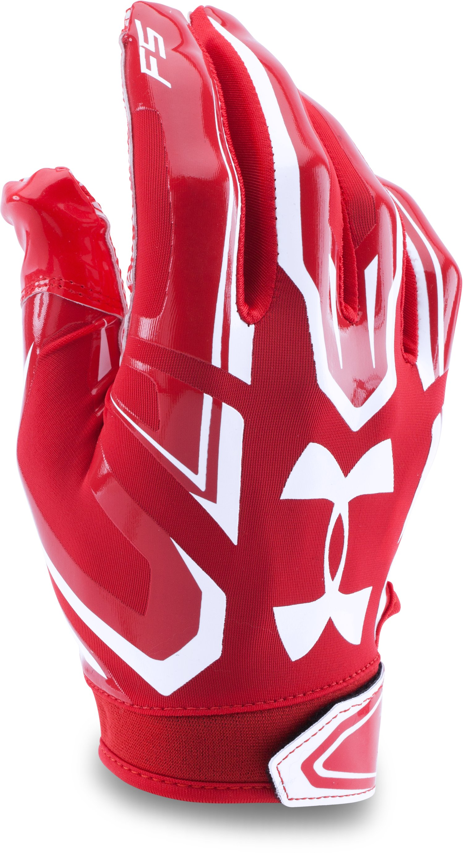 Boys' UA F5 Football Gloves, Red,