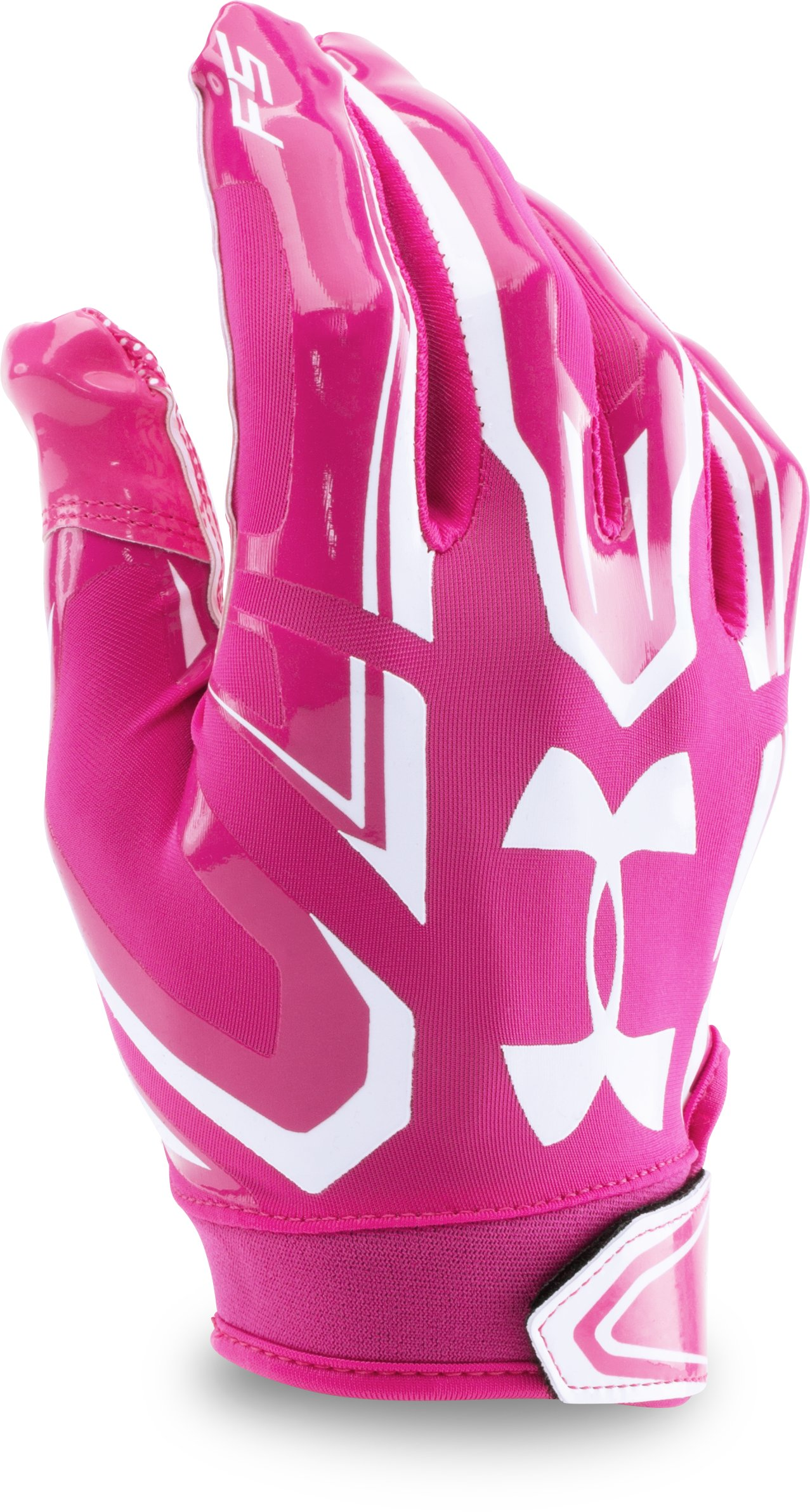 Boys' UA F5 Football Gloves, Tropic Pink, zoomed image