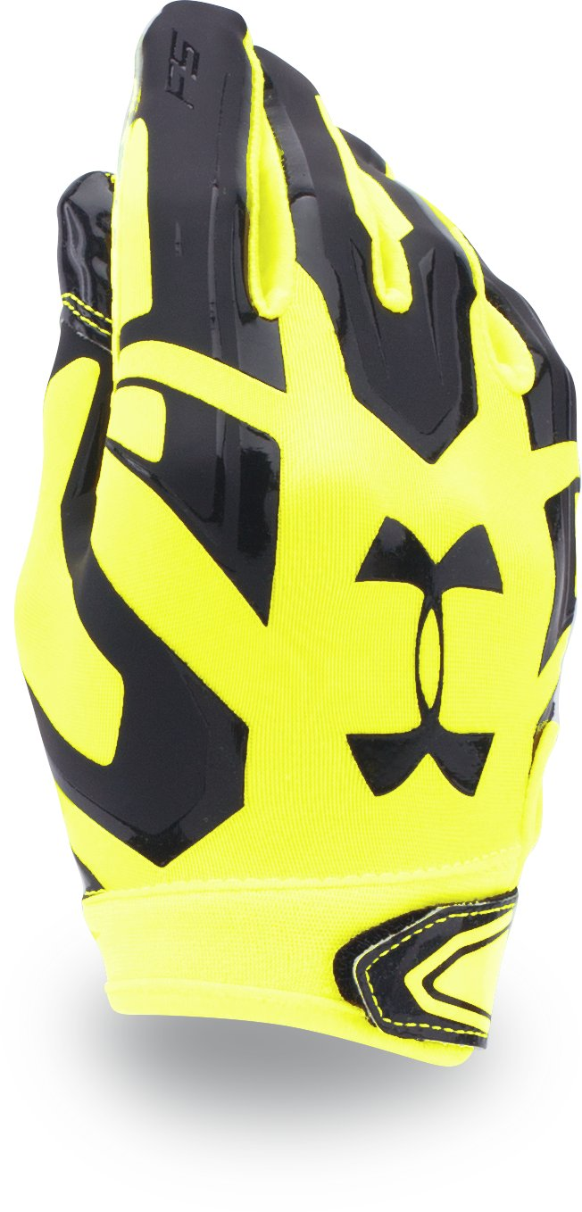 Boys' UA F5 Football Gloves, High-Vis Yellow