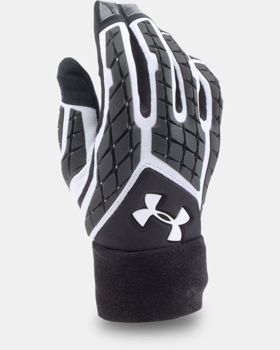 Men's UA Combat V Football Gloves, White, pdpMainDesktop image number 2