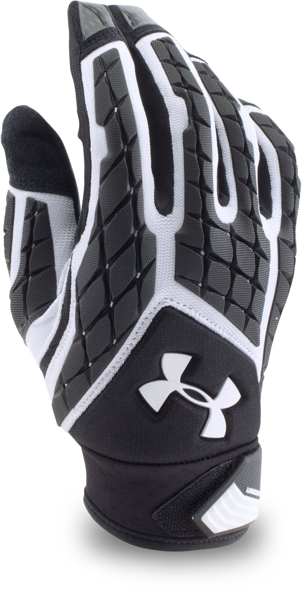Men's UA Combat V Football Gloves, White