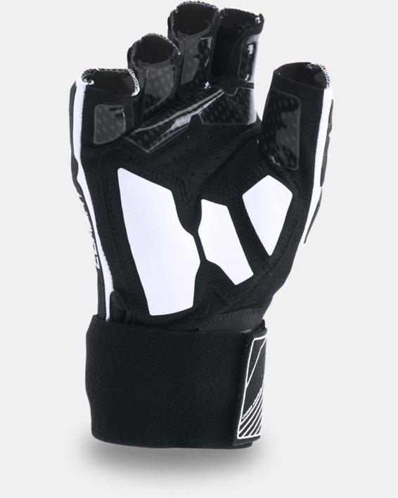 Men's UA Combat V Half-Finger Football Gloves, White, pdpMainDesktop image number 1
