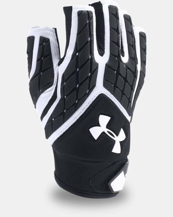 Men's UA Combat V Half-Finger Football Gloves, White, pdpMainDesktop image number 2