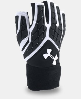 Men's UA Combat V Half-Finger Football Gloves  1  Color Available $49.99