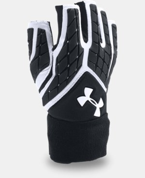 Men's UA Combat V Half-Finger Football Gloves  1 Color $49.99