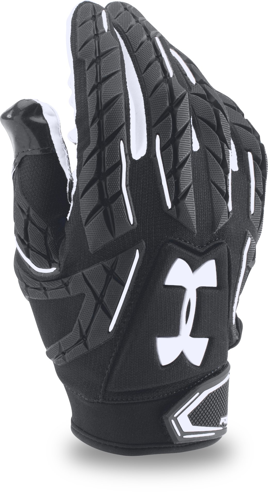 Men's UA Fierce VI Football Gloves, Black ,