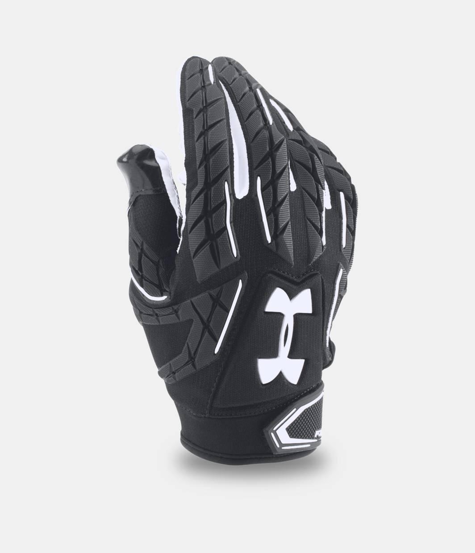 Black batting gloves - Men S Ua Fierce Vi Football Gloves Black Zoomed Image