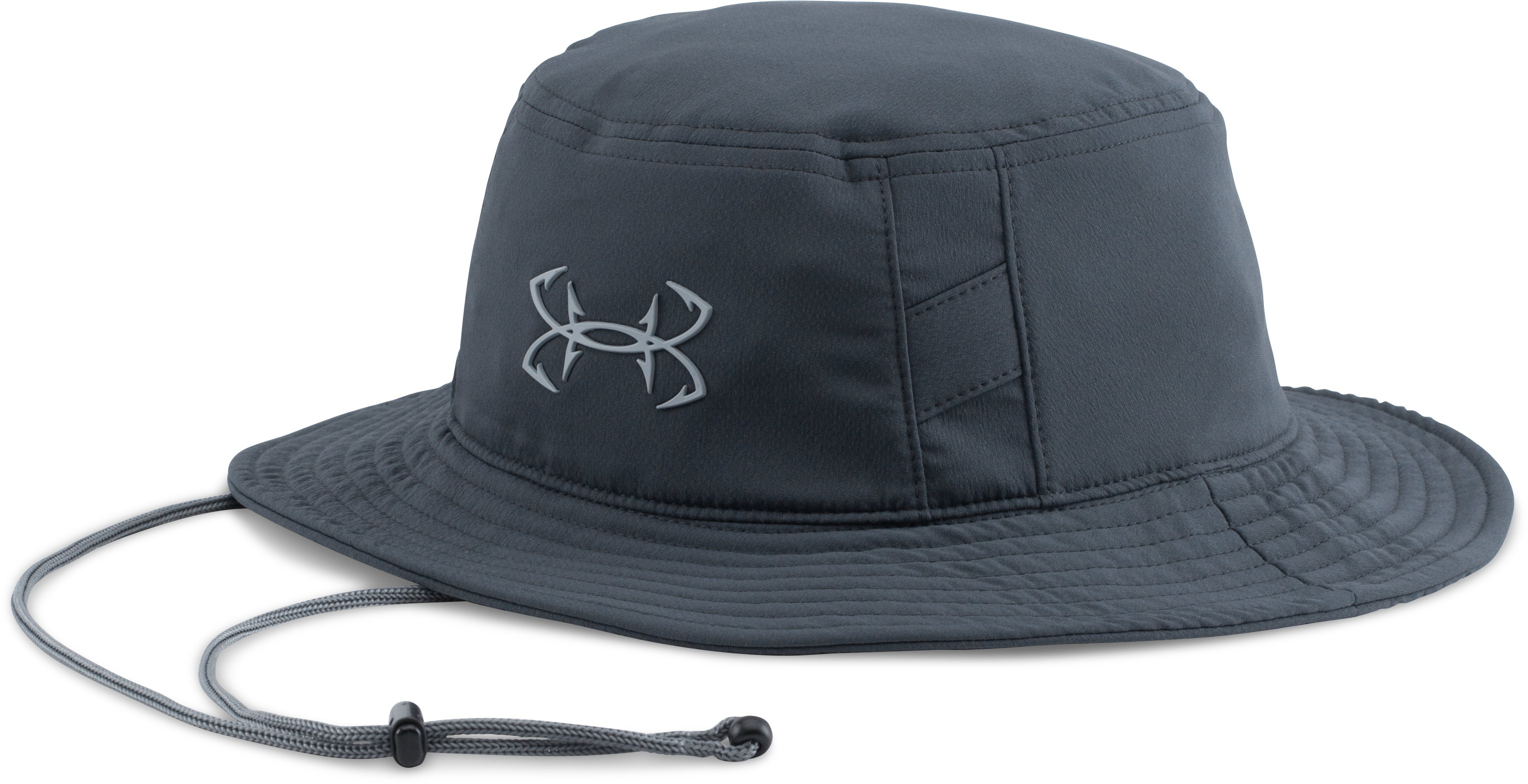 Men's UA Fish Hook Bucket Hat, STEALTH GRAY, zoomed image