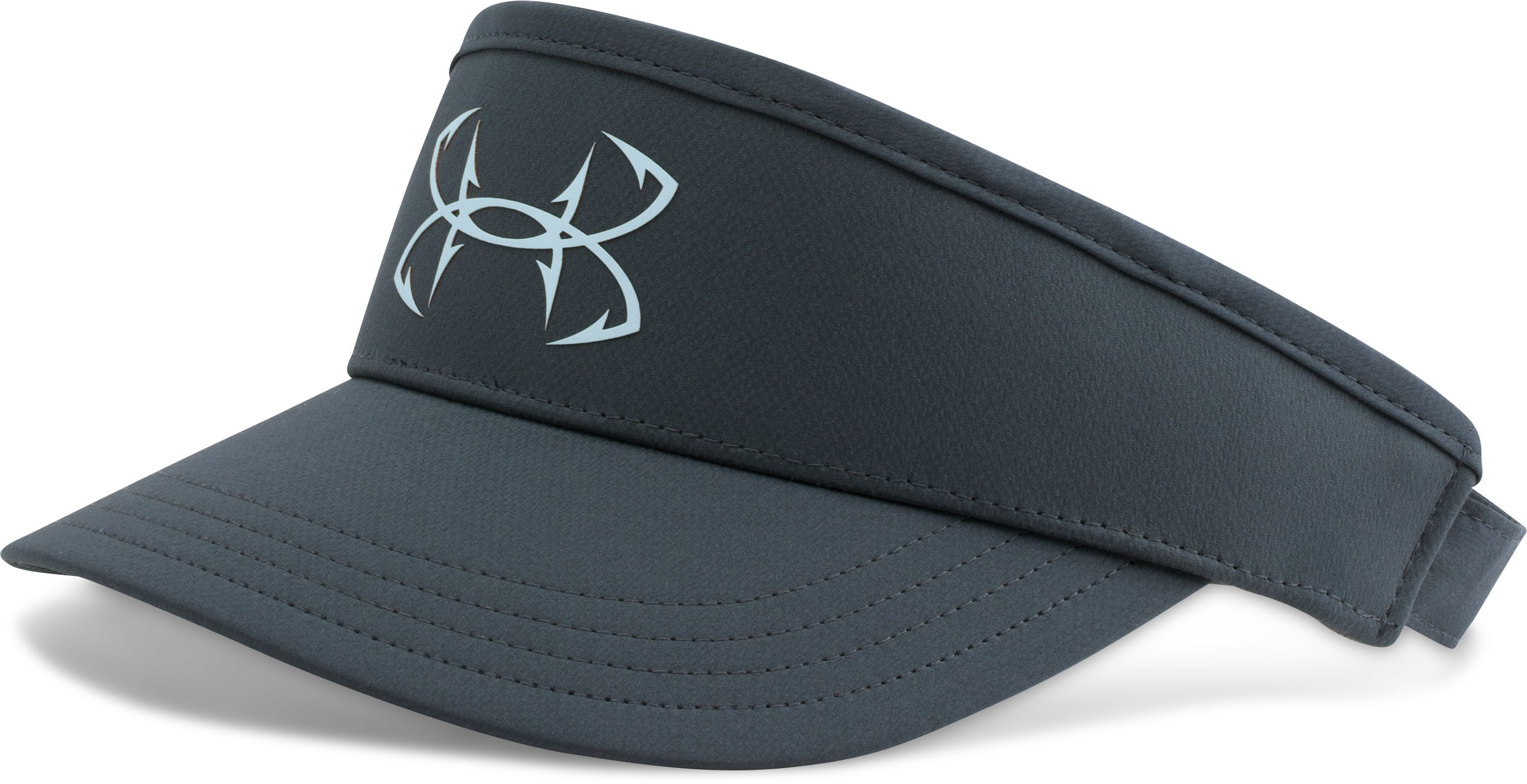 Men's UA Fish Hook Visor, STEALTH GRAY,